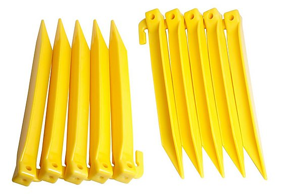 Halfords Plastic Power Tent Pegs 10 Pack