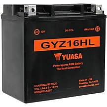 image of Yuasa GYZ16HL 12V High Performance Maintenance Free VRLA Battery