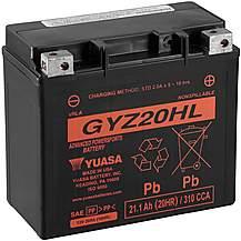 image of Yuasa GYZ20HL 12V High Performance Maintenance Free VRLA Battery