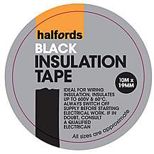image of Halfords Insulation Tape Black 19mm x 10m