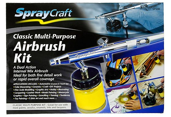 SprayCraft Classic Multi-Purpose Airbrush Kit