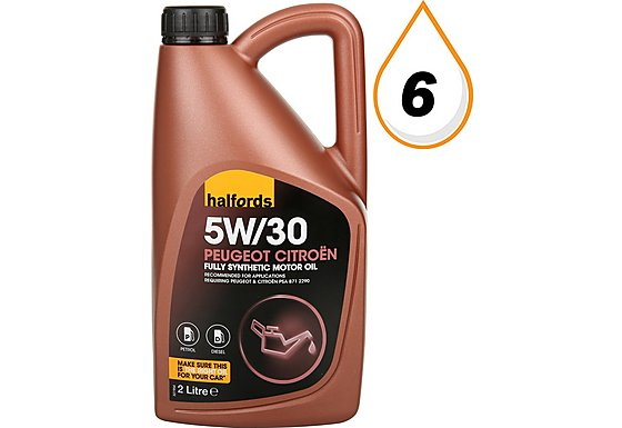 Halfords Halfords 5w30 Peugeot Citroen Fully Synthetic