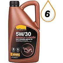 image of Halfords 5W30 Peugeot/Citroen Fully Synthetic Oil 2 L