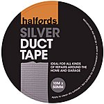 image of Halfords Duct Tape Silver 50mm x 10m