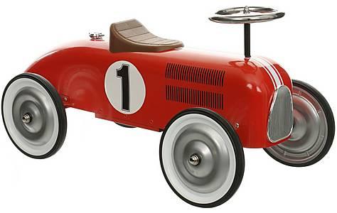 image of Halfords Retro Racing Car Ride On