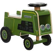 image of Kiddimoto Wooden Ride On Tractor