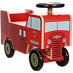 image of Kiddimoto Wooden Ride On Fire Engine