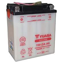 image of Yuasa YB12A-AK 12V YuMicron Battery with Sensor