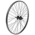 "image of Rear Mountain Bike Wheel - 26"" Silver Rim"