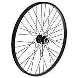 "Front Mountain Bike Wheel - 26"" Black Rim"