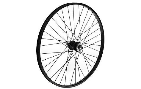"image of Rear Mountain Bike Wheel - 26"" Black Rim"