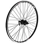 "8-Speed Rear Bike Wheel - 26"" Black Rim"