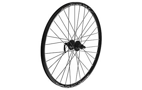 "image of Quick Release Rear 8/9 Speed Bike wheel - 26"" in Black MX Disc"