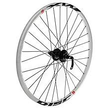 "image of Quick Release Rear 8/9 Speed Bike wheel - 26"" in White MX Disc"