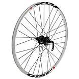 """Quick Release Rear 8/9 Speed Bike wheel - 26"""" in White MX Disc"""