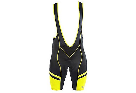 Tenn Cycling Bib Shorts with Pad - Black/Yellow Small