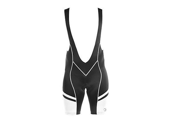 Tenn Mens Cycling Bib Shorts with Pad - Black/White Large