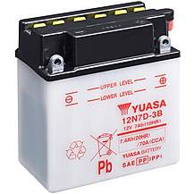 image of Yuasa 12N7D-3B 12V Conventional Battery