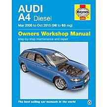 image of Haynes Audi A4 Diesel (Mar 2008 - Oct 2015) Manual