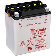 image of Yuasa 12N11-3A-1 12V Conventional Battery