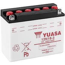 image of Yuasa 12N18-3 12V Conventional Battery