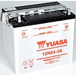 image of Yuasa 12N24-3A 12V Conventional Battery