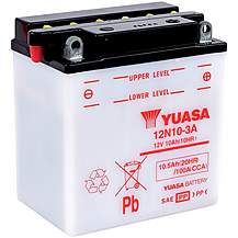 image of Yuasa 12N10-3A 12V Conventional Battery