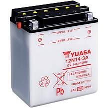 image of Yuasa 12N14-3A 12V Conventional Battery