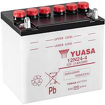 image of Yuasa 12N24-4 12V Conventional Battery