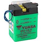 image of Yuasa 6N2-2A-8 6V Conventional Battery