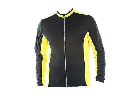 Tenn Mens Cool Flo Long Sleeve Cycling Jersey - Yellow XXLarge