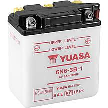 image of Yuasa 6N6-3B-1 6V Conventional Battery