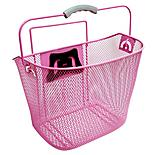 Rosa Pink Wire Front Bike Basket with Fitting Kit