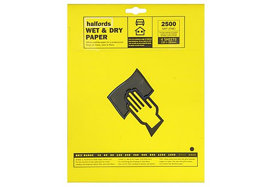 Halfords Wet & Dry P2500 x 4