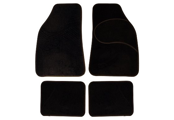 Halfords Carpet Car Mats Black