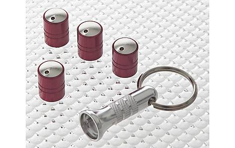 image of Richbrook Spinning Anti-Theft Caps Red