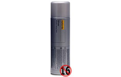 image of Halfords 'Silver' Spray Paint 500ml