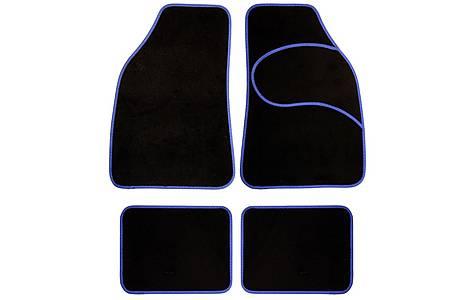 image of Halfords Carpet Car Mats Blue Trim