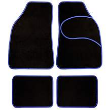 image of Halfords Carpet Car Mats Blue Trim