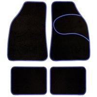 Halfords Carpet Car Mats Blue Trim