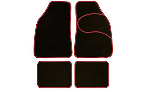 image of Halfords Carpet Car Mats Red Trim