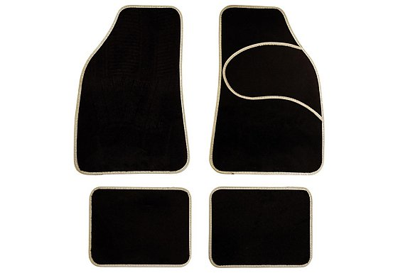 Halfords Carpet Car Mats Grey Trim