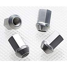 image of Richbrook Aluminium Wheel Nuts Silver M12 x 1.25