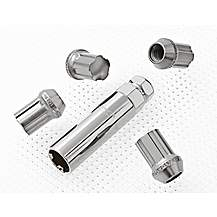 image of Richbrook Aluminium Locking Wheel Nuts M12 x 1.25 Silver