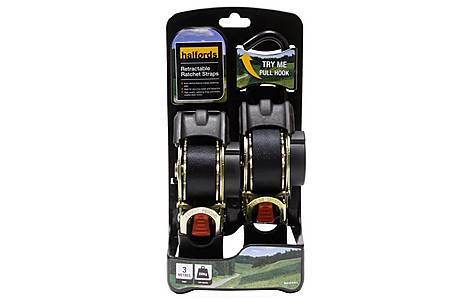 image of Halfords 3M Retractable Ratchet Straps