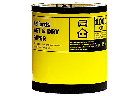 Halfords Wet & Dry Sandpaper Roll 1000g