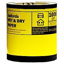 image of Halfords Wet & Dry Sandpaper Roll 1000g