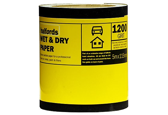Halfords Wet & Dry Sandpaper Roll 1200g