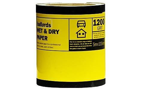 image of Halfords Wet & Dry Sandpaper Roll 1200g