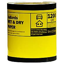image of Halfords Wet & Dry Sandpaper Roll 1200g